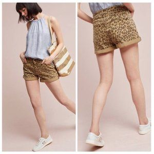 Anthro Pilcro NWT Hyphen Leopard Shorts